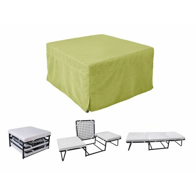 Sleeper Ottoman Upholstery Material: Microfiber, Color: Green