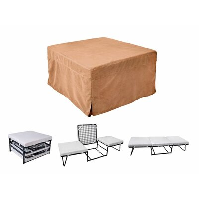 Sleeper Ottoman Upholstery Material: Microfiber, Color: Camel