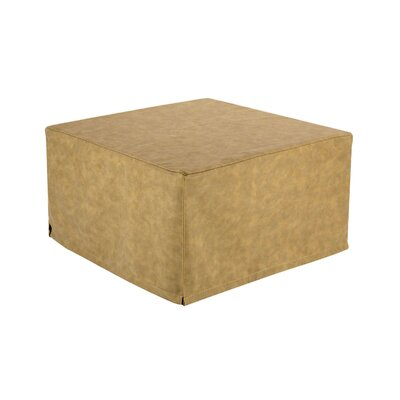 Magical Cocktail Ottoman Upholstery Material: Faux Leather, Color: Beige