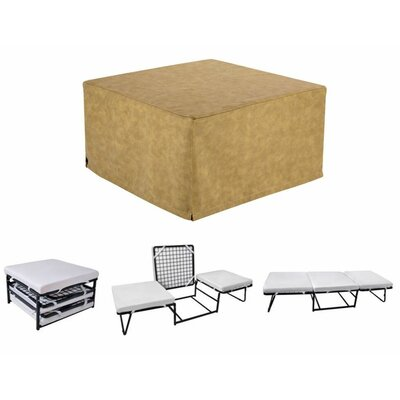 Sleeper Ottoman Upholstery Material: Microfiber, Color: Beige