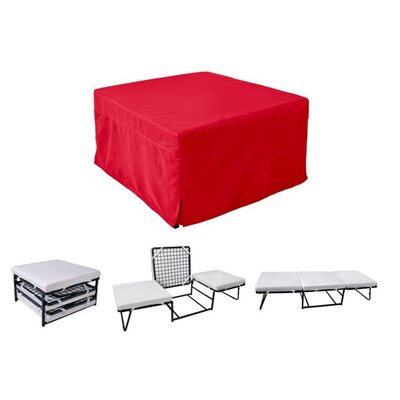 Sleeper Ottoman Upholstery Material: Microfiber, Color: Red