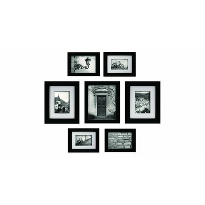 Create-A-Gallery 7 Piece Gallery Snapshot Picture Frame Set Color: Black
