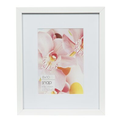 Snap Picture Frame Color: White, Size: 5
