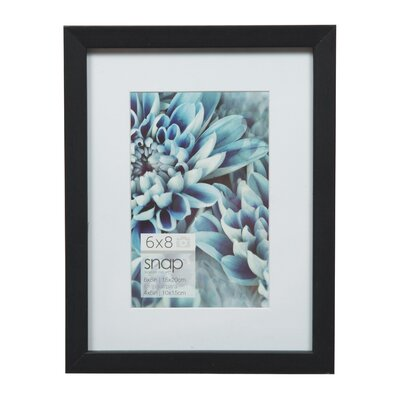 Snap Picture Frame Color: Black, Size: 4