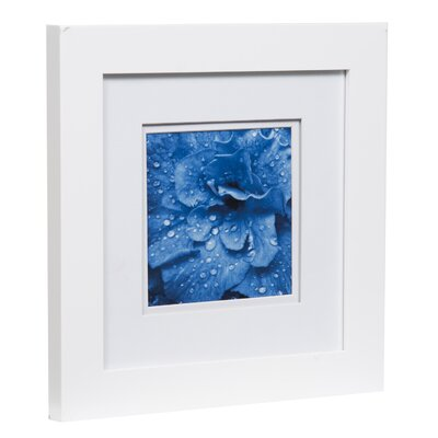 Gallery Solutions Double Mat Picture Frame Color: Black, Size: 5