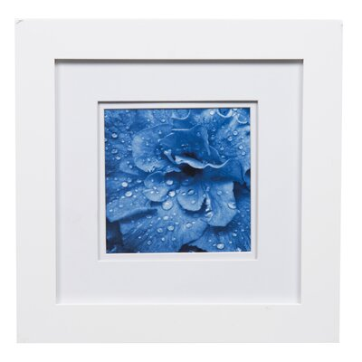 Gallery Solutions Double Mat Picture Frame Color: White, Size: 5