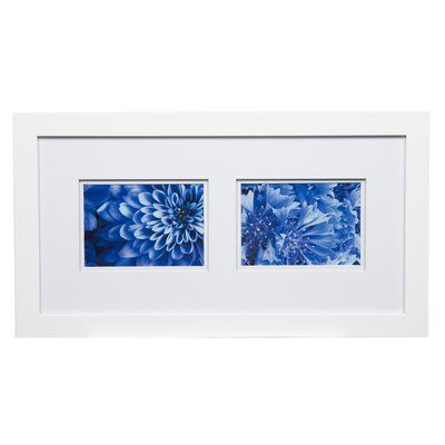 Gallery Solutions Double Mat Picture Frame Color: White