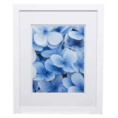 Gallery Solutions Double Mat Picture Frame Color: White, Size: 11