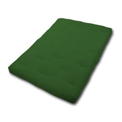 6 Fiber Foam Futon Mattress Size: Twin, Color: Green