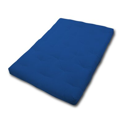 6 Fiber Foam Futon Mattress Size: Twin, Color: Royal Blue