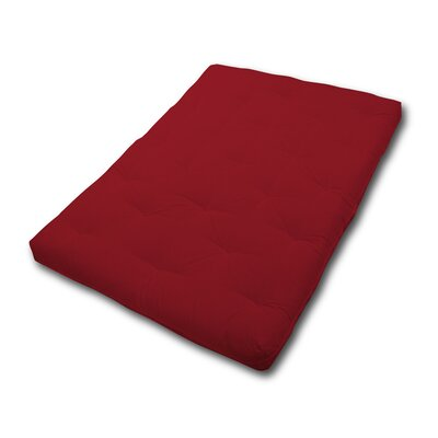 6 Fiber Foam Futon Mattress Size: Full, Color: Ruby