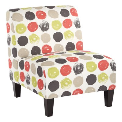 Magnolia Slipper Chair Color: Brushed Dot - Poppy