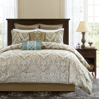 Pierce 8 Piece Comforter Set Size: King