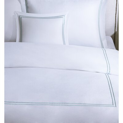 Luxury 4 Piece Duvet Cover Set Size: King, Color: Aqua