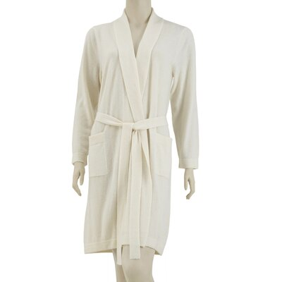 Cashmere Robe Size: Small / Medium, Color: Ivory