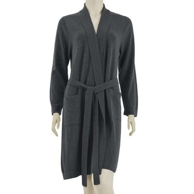 Cashmere Robe Size: Large / Extra Large, Color: Dark Gray