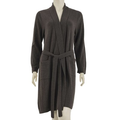 Cashmere Robe Size: Small / Medium, Color: Brown