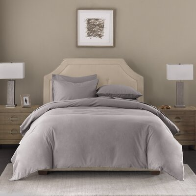 3 Piece Duvet Set Size: Queen, Color: Taupe