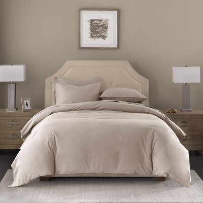 3 Piece Duvet Set Size: Queen, Color: Natural