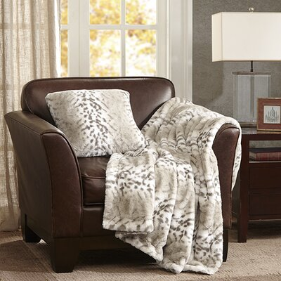 Serengeti Throw Pillow Color: Snow Leopard