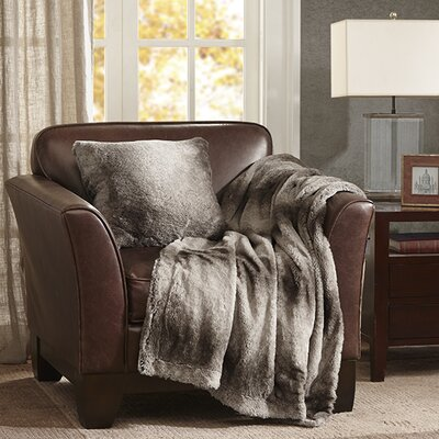 Serengeti Throw Pillow Color: Grey