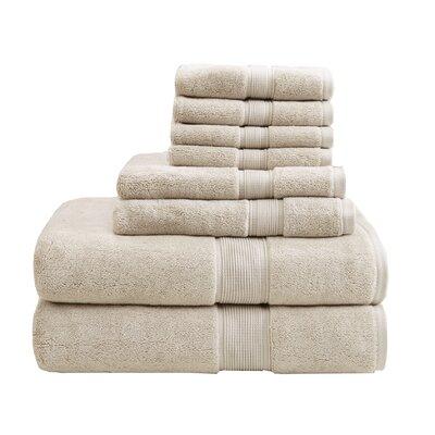 8 Piece Towel Set Color: Natural