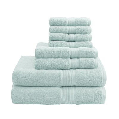 800 GSM Cotton 8 Piece Towel Set Color: Seafoam