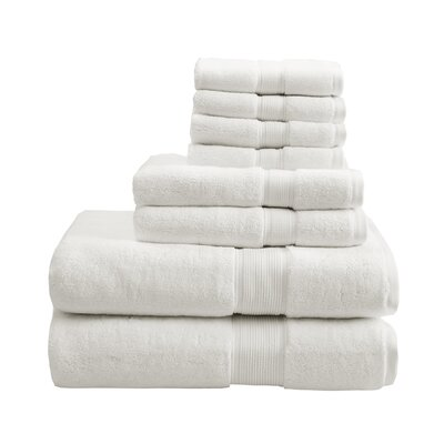 8 Piece Towel Set Color: Cream