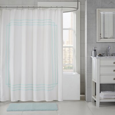 Elloy Cotton Applique Shower Curtain Color: Seafoam