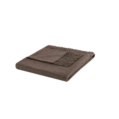 Cashmere Throw Blanket Color: Brown