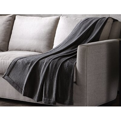 Luxury Wool Throw Color: Brown, Size: 70 H x 60 W