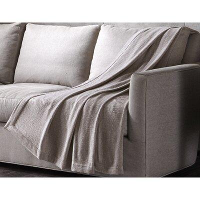 Luxury Wool Throw Color: Khaki, Size: 70 H x 60 W