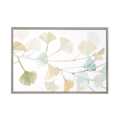 Spring Ginkgo Leaves Painting Print on Wrapped Canvas