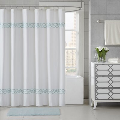 Chainlink Shower Curtain Color: Seafoam