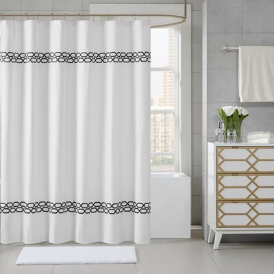 Chainlink Shower Curtain Color: Black