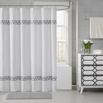 Chainlink Shower Curtain Color: Gray