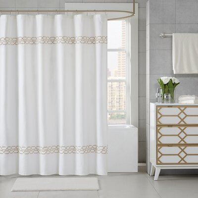 Chainlink Shower Curtain Color: Taupe