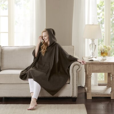 Luxury Cashmere Poncho Color: Brown