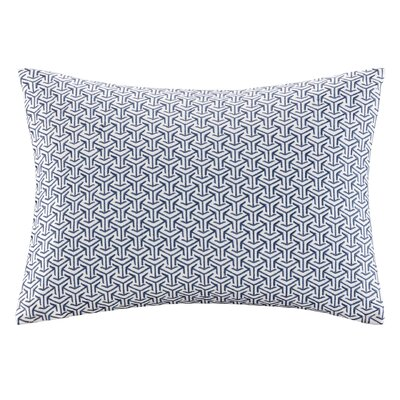 Basket Weave Cotton Lumbar Pillow Color: Indigo