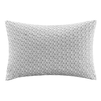 Basket Weave Cotton Lumbar Pillow Color: Gray