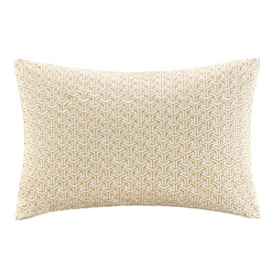 Basket Weave Cotton Lumbar Pillow Color: Yellow