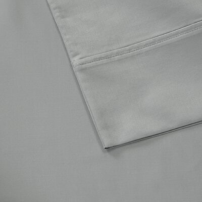 600 Thread Count 100% Cotton Pillowcase Size: Standard, Color: Gray