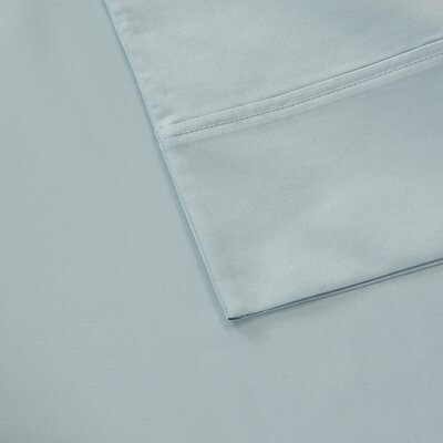 600 Thread Count 100% Cotton Pillowcase Size: Standard, Color: Blue