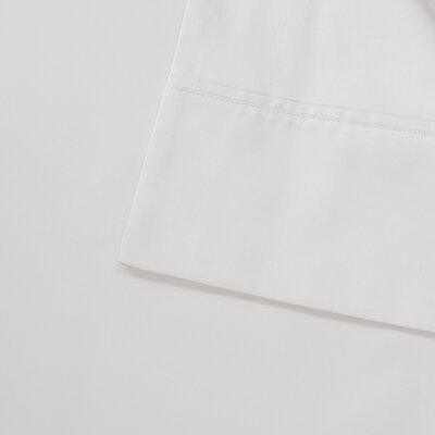 600 Thread Count 100% Cotton Pillowcase Size: Standard, Color: White