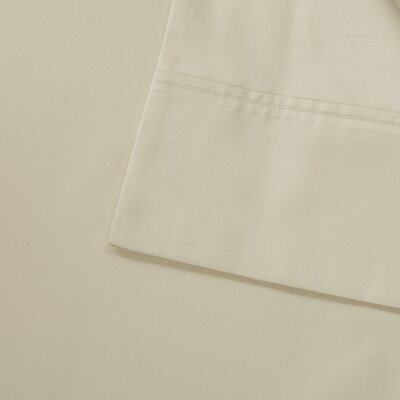 600 Thread Count 100% Cotton Pillowcase Size: King, Color: Ivory