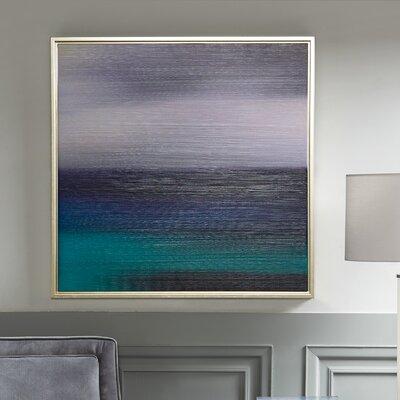 'Blue Seascape' Framed Graphic Art Print on Wood