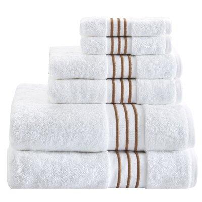 Elloy 6 Piece Towel Set Color: Taupe