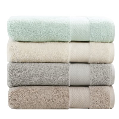 Turkish 6 Piece Bath Towel Set Color: Silver