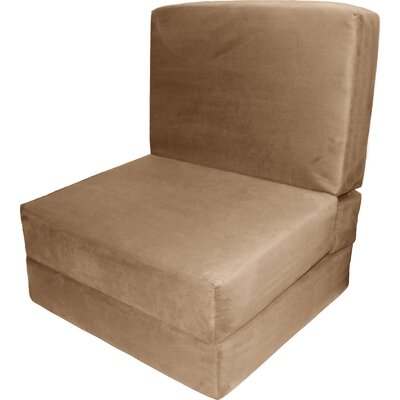 Bator Convertible Chair Upholstery: Suede Khaki