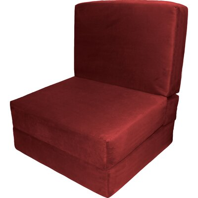 Bator Convertible Chair Upholstery: Suede Cardinal Red